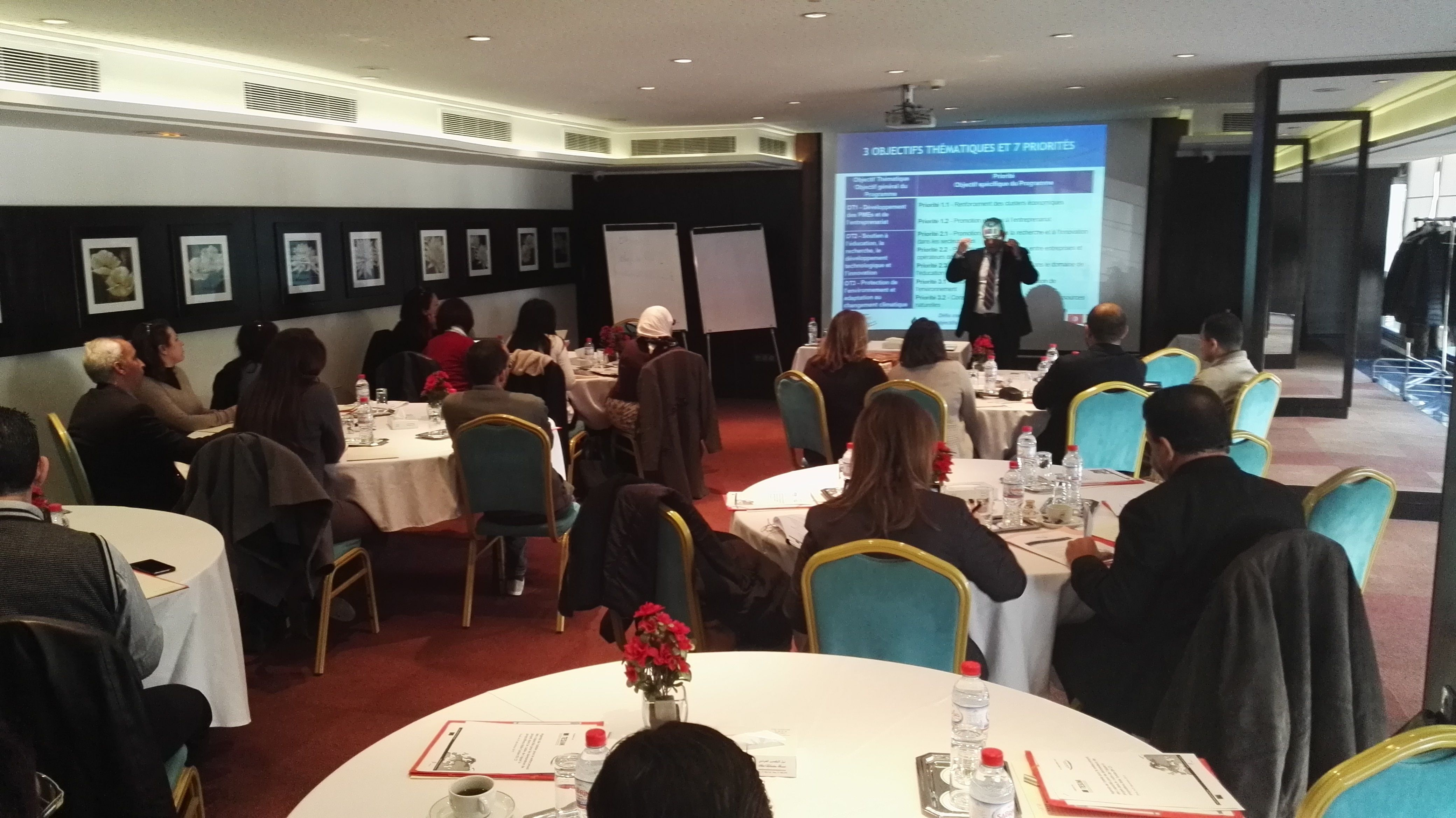 Atelier de renforcement des capacités pour le programme IEV CT MED en Tunisie